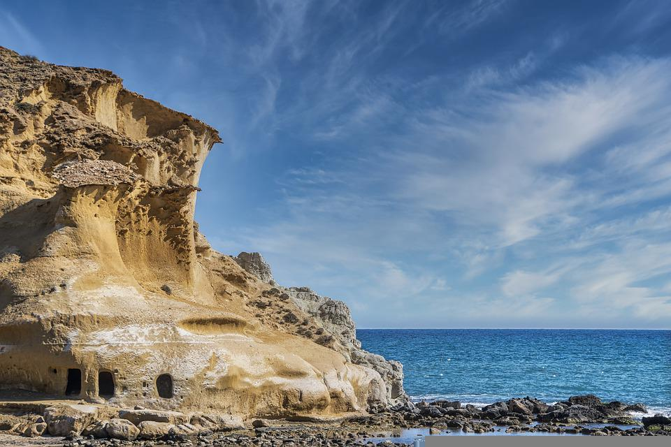 Cliff, Coast, Sea, Rocks, Rock Formation, Mountain