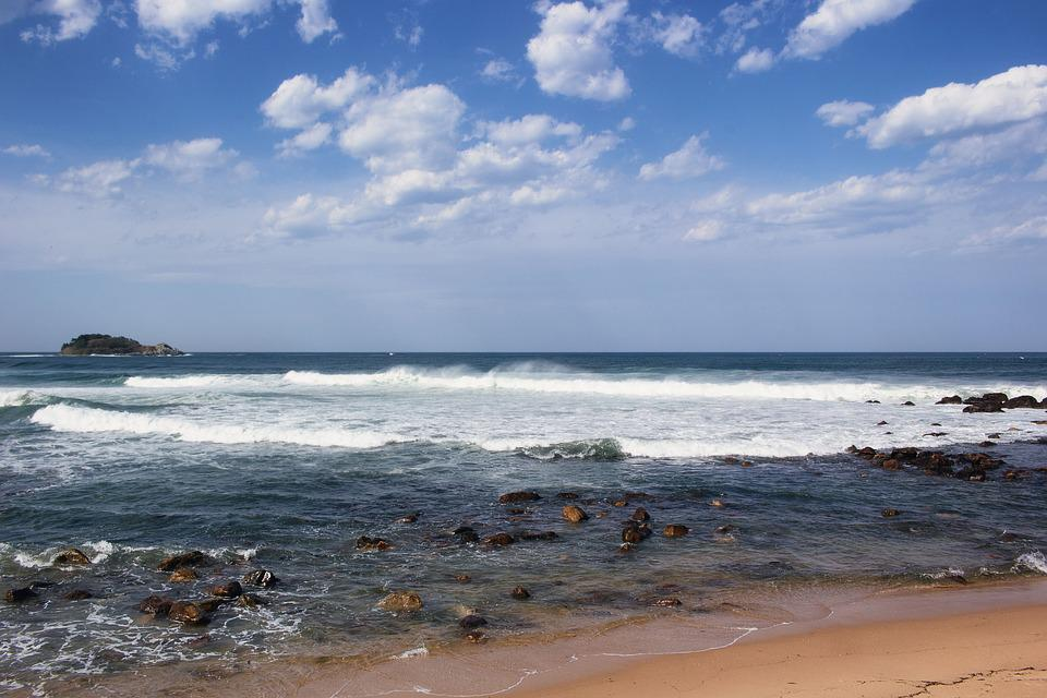 The Body Of Water, Sea, Surf, Sand, Coast