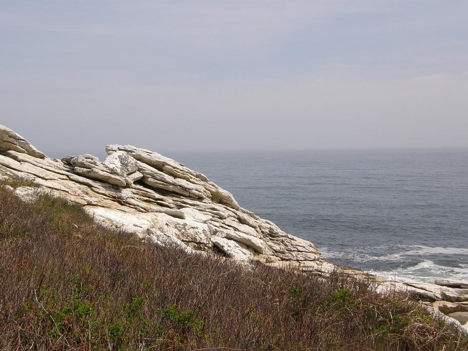 Maine, Coast, Ocean, Shore, Water, Sea, Sky, Coastline