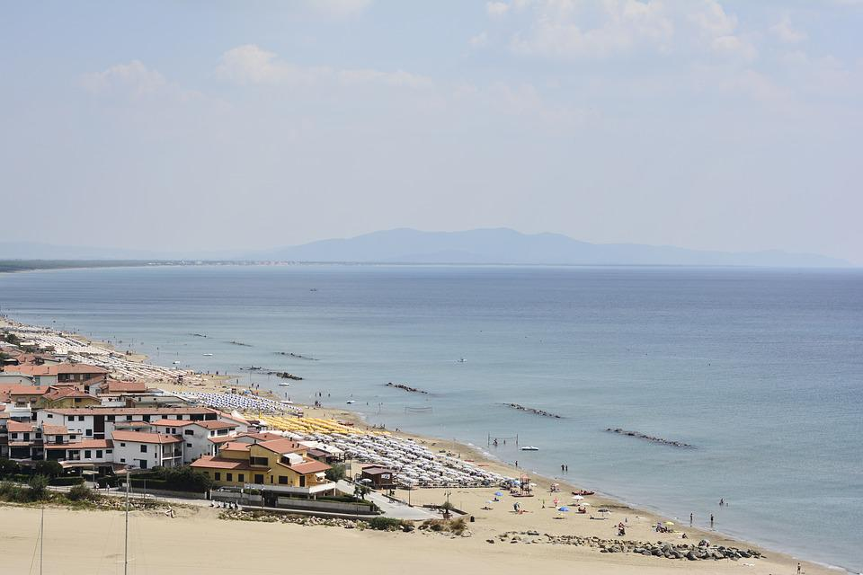 Beach, Airview, Summer, Vacation, Coast, Landscape