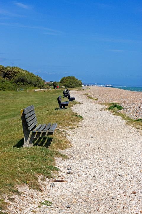 Coastal Path, Path, Stones, Stoney, Seats, Bench