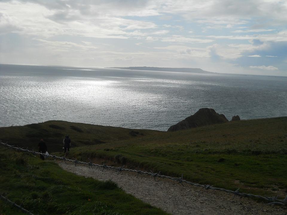 England, Coastal Path, Sea, Landscape, Twilight