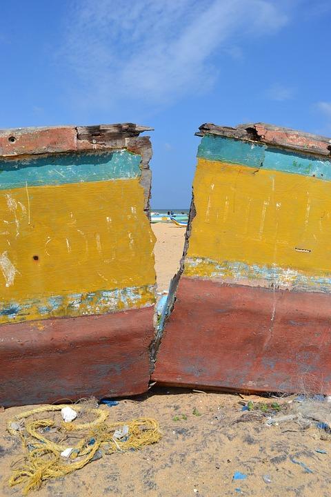 India, Boat, Beach, Sea, Himmel, Coastal