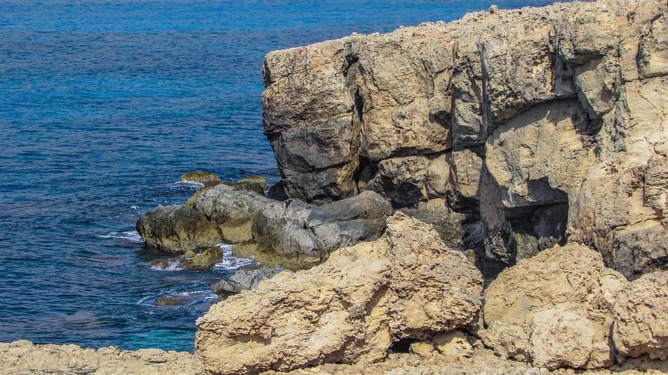Cyprus, Cavo Greko, Landscape, Rock, Sea, Coastline