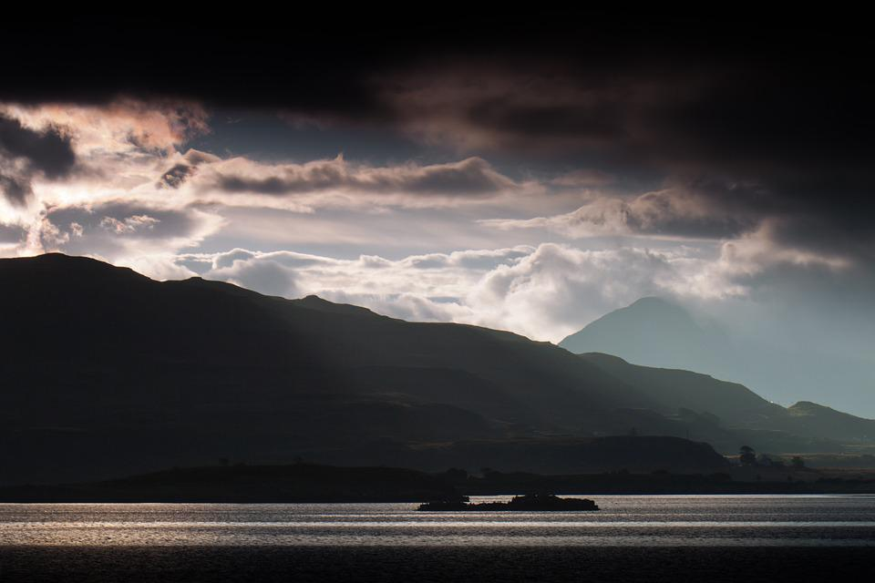 Outer Hebrides, Coastline, Scotland, Hills, Mountains
