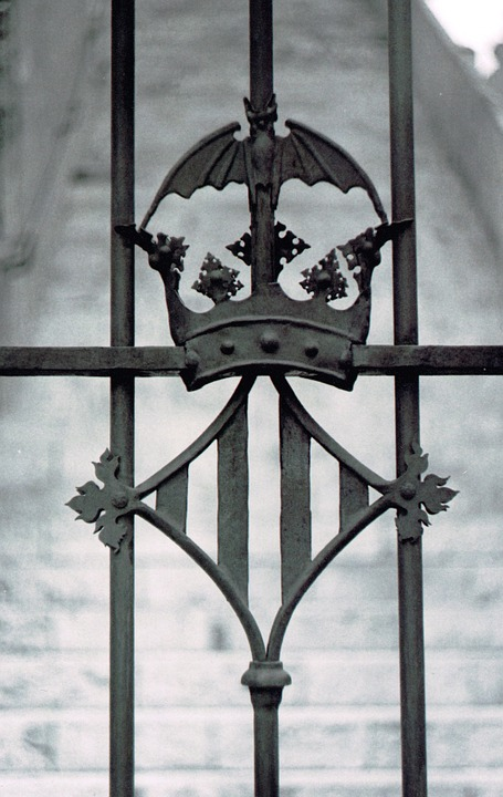 Coat Of Arms, Valencia, Black And White, Grey, Abstract