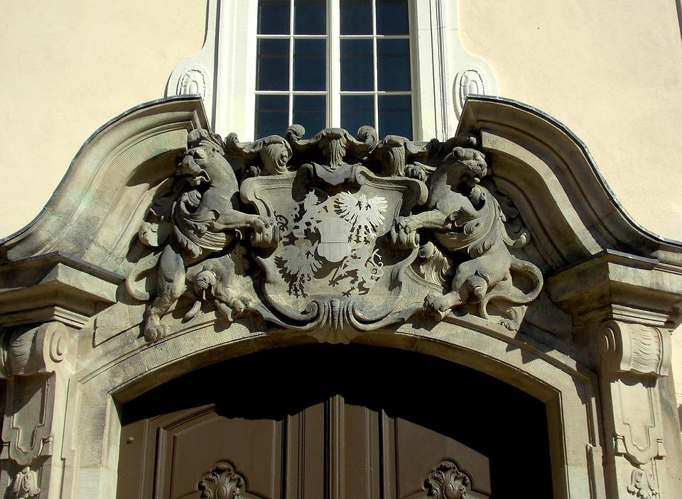 Architecture, Facade, Natural Stone, Coat Of Arms