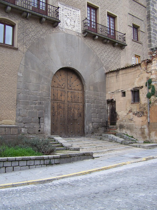 Segovia, Doorway, House, Coat Of Arms