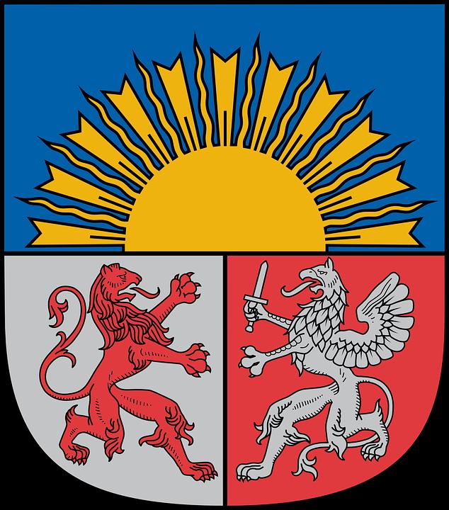 Latvia, Coat Of Arms, Symbol, Emblem, Shield, Design