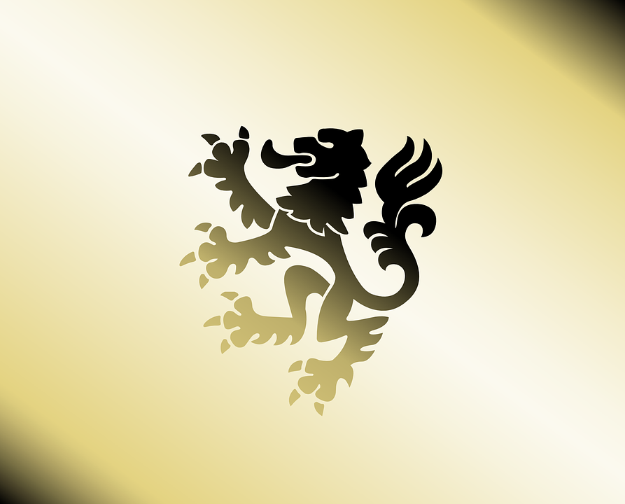 Lion, Heraldry, Gold, Course, Coat Of Arms, Graphic