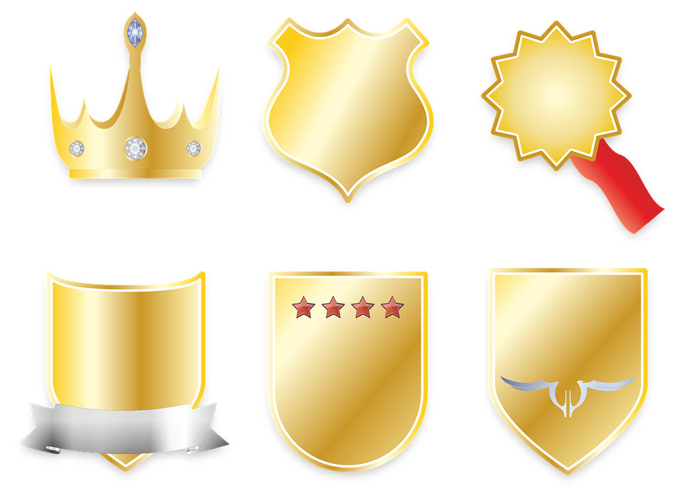 Crown, Coat Of Arms, Banner, Shield, Gold, Star, Order