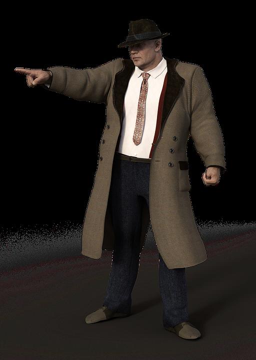 free photo coat suit muscular man al capone clothing max pixel