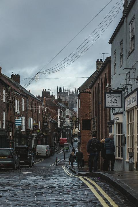 Street, Buildings, Town, Road, Pavement, Cobble Paving