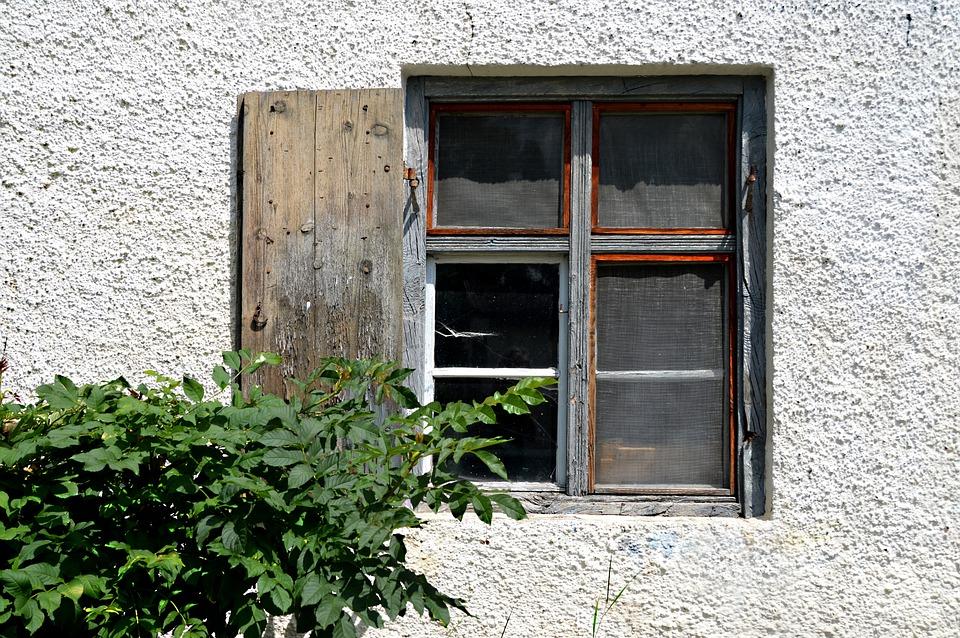 The Window To The Yard, Old Window, Decay, Cobweb