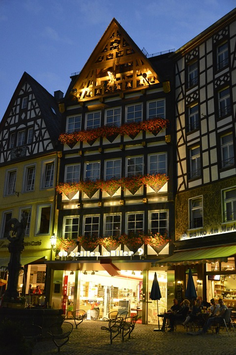 Cochem, Homes, Truss, Old Town, Marketplace