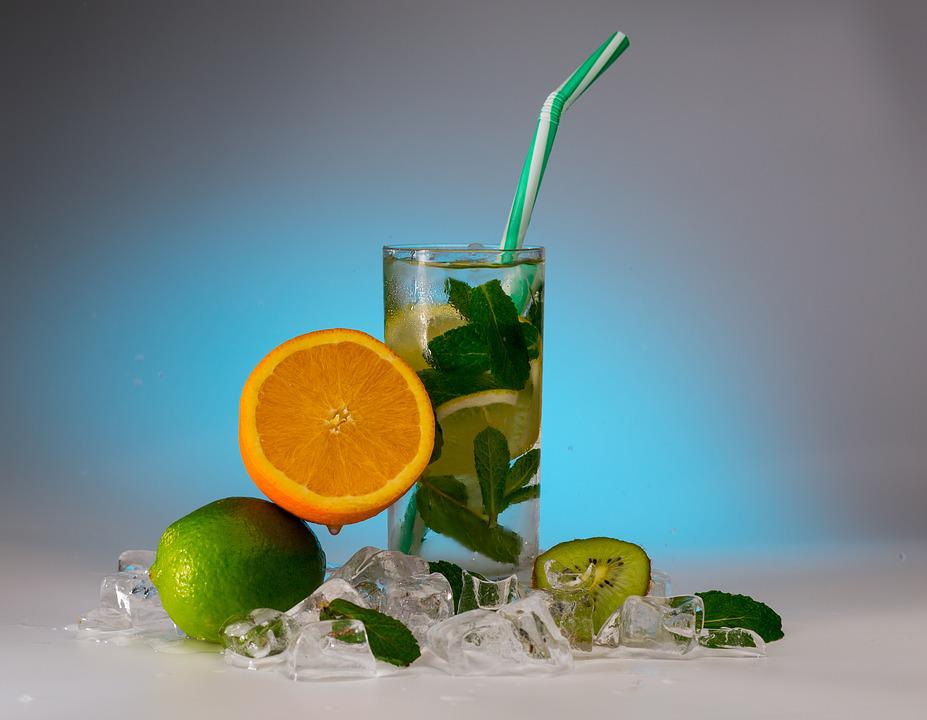 Fresh, Drink, Glass, Cocktail, Fruit, Citrus, Lime