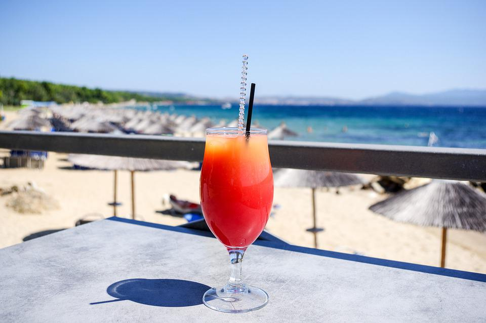 Vacations, Sun, Cocktail, Summer, Water, Beach, Sea