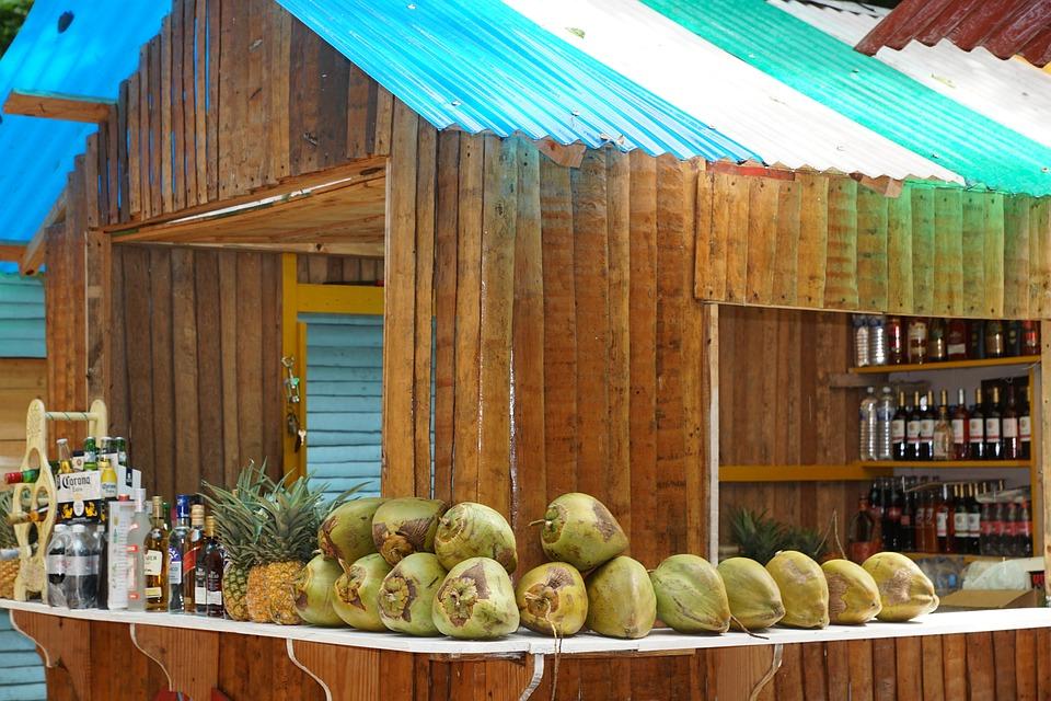 Coconut, Bar, Caribbean, Exotic, Market, Fruit, Drink