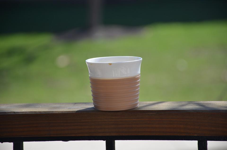 Coffe Cup, Garden, Outdoor, Morning, Mug, Grass, Coffe