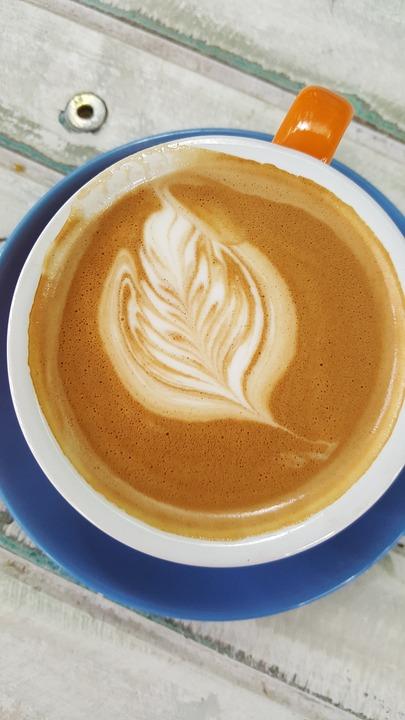 Coffee, Blue, Mug, Latte, Vintage, Art, Consumer, Table