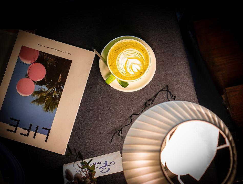 Coffee, Latte Art, Flat Lay, Coffee Art, Drink