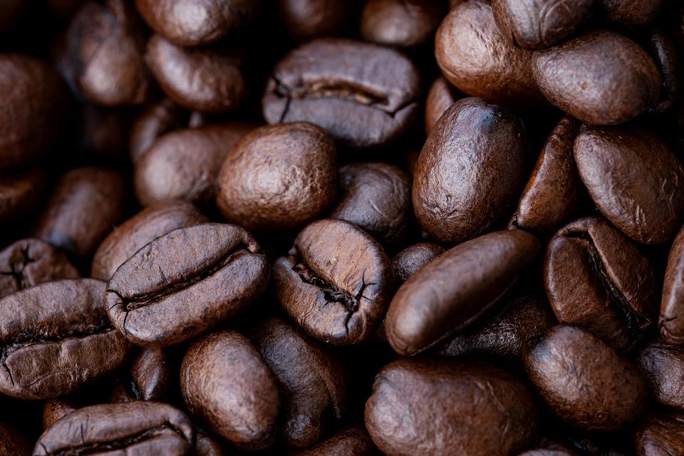 Coffee Beans, Coffee, Roasted Coffee Beans, Macro
