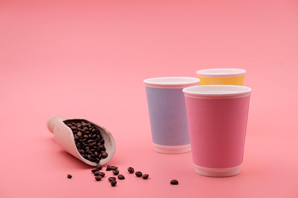 Coffee, Coffee Beans, Cup, Disposable Cups, Coffee Mugs
