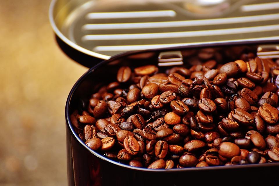 Coffee Tin, Coffee, Coffee Beans, Cafe, Roasted