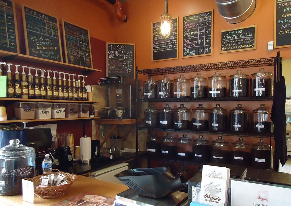 Coffee, Shop, Business, Interior, Inside, Summit