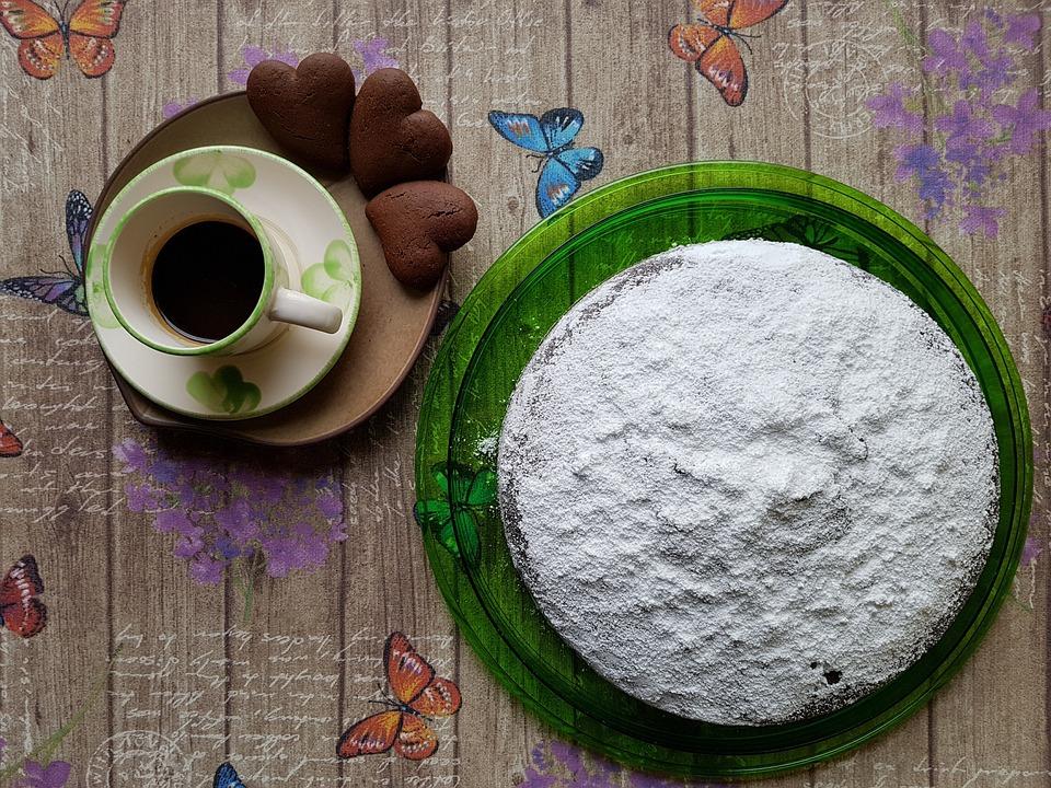 Cake, Sweets, Coffee