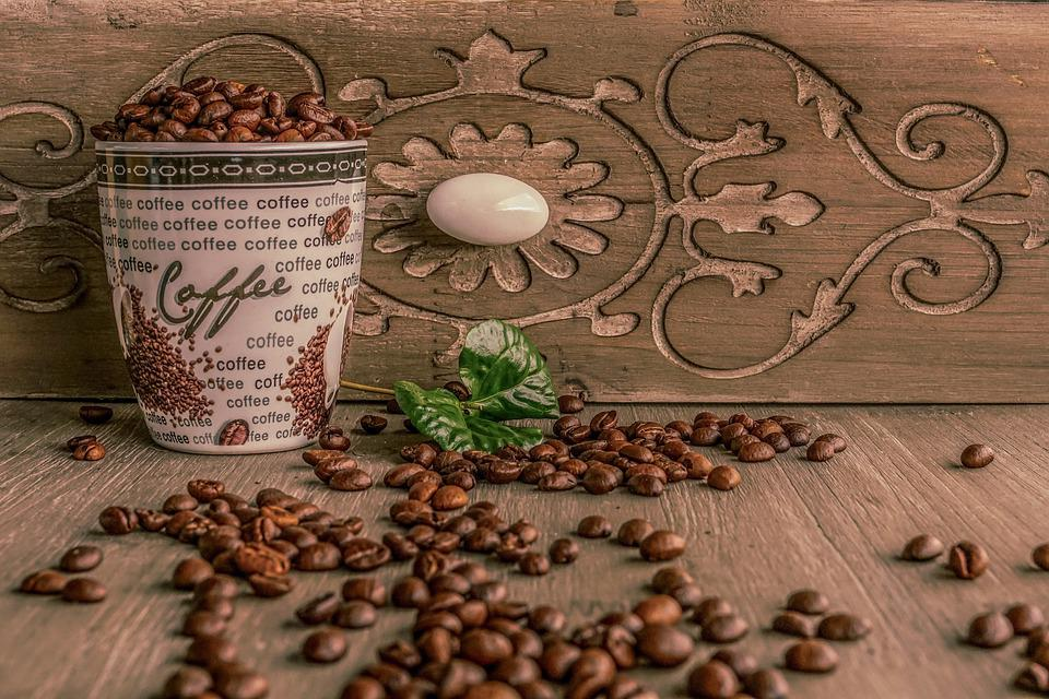 Coffee Cup, Coffee, Coffee Beans, Roasted Coffee Beans