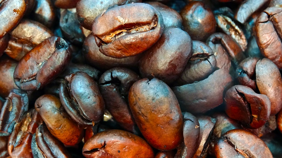 Macro Coffee Beans, Coffee Beans, Closeup, Coffee