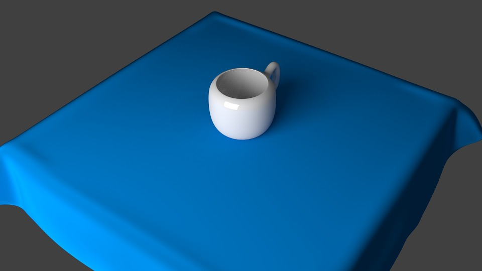 Coffee Cup, Cup, Tablecloth