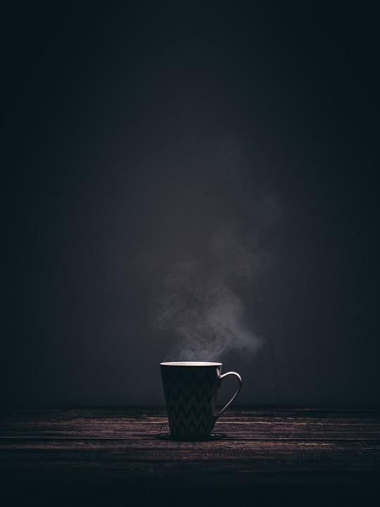 free photo coffee cup drink dark smoke steaming tea mug max pixel