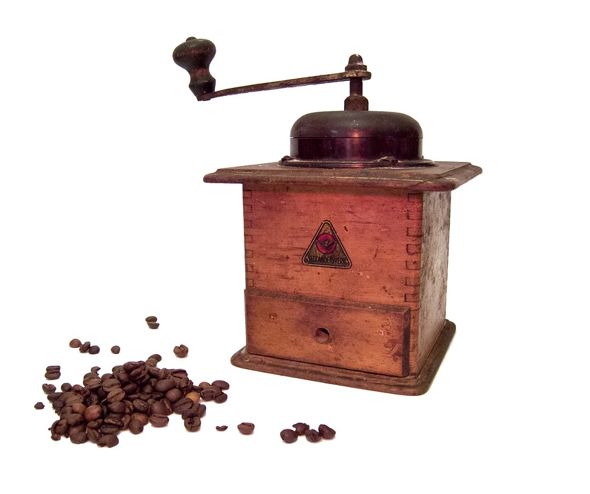 Coffee Grinder, Coffee, Grinder, Wooden, Kitchen