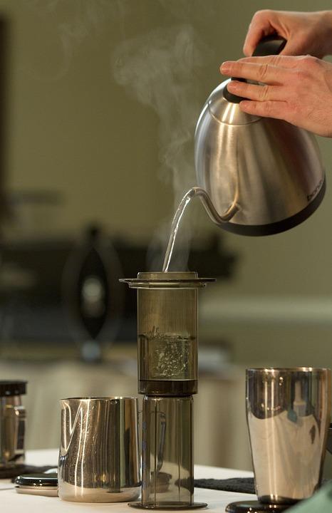 Coffee Making, Aero Press, Coffee, Tea, Hot Water