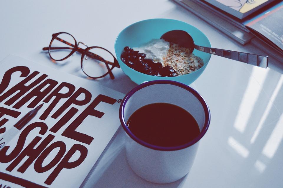 Breakfast, Morning, Coffee, Cup, Yogurt, Granola