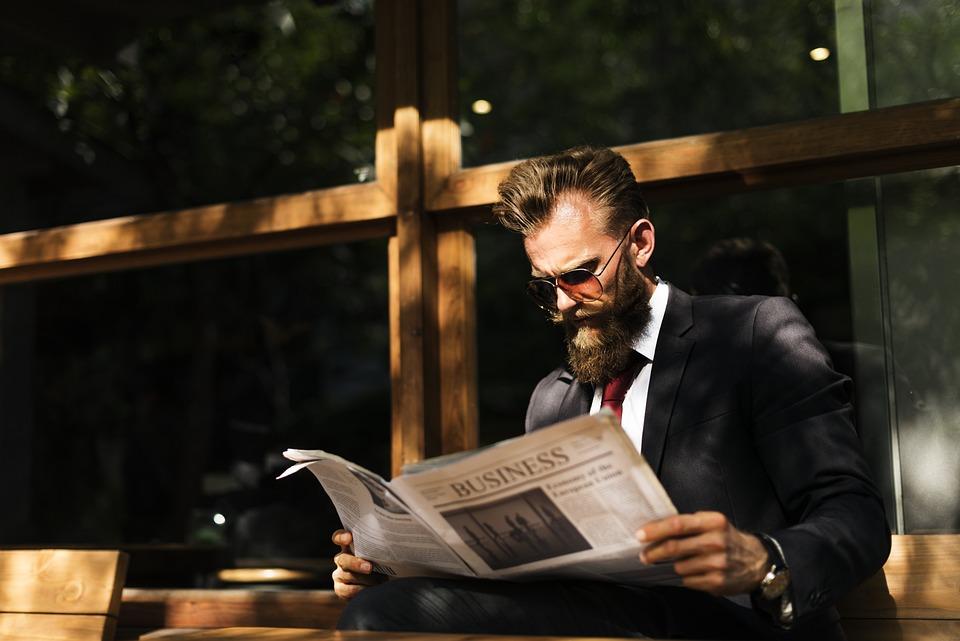 Beard, Break, Business, Businessman, Cafe, Coffee Shop