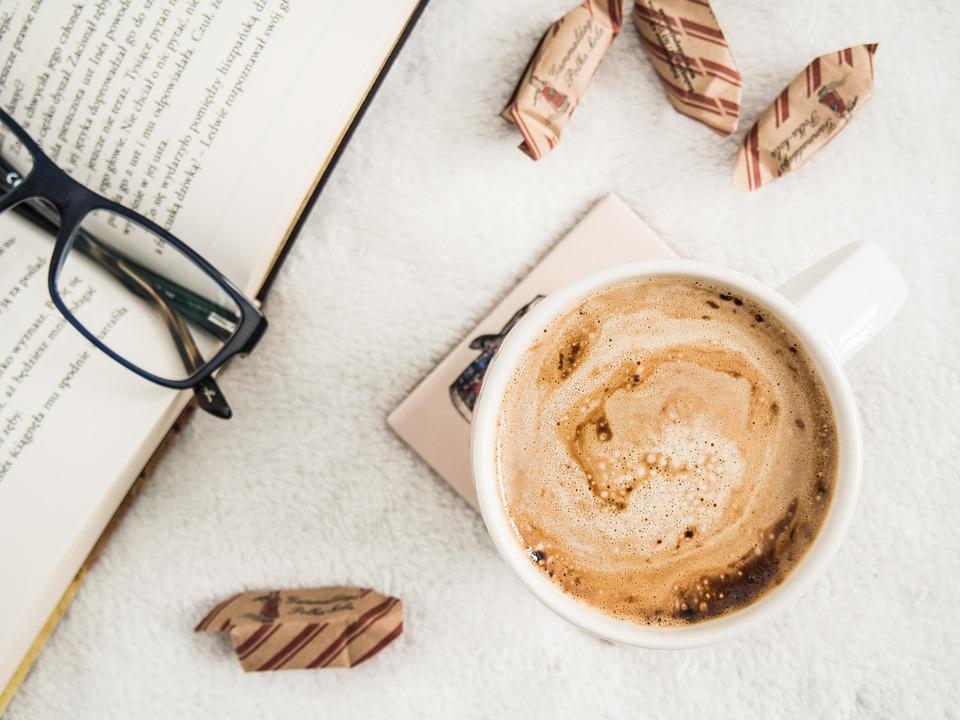 Book, Reading, Eyeglasses, Coffee, Morning, Sweets