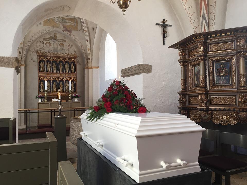 Coffin, Funeral, Church