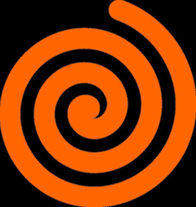 Design, Swirl, Orange, Spiral, Coil