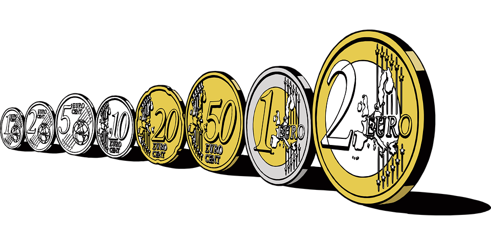 Europe, Money, Coins, Exchange, One, Two, European