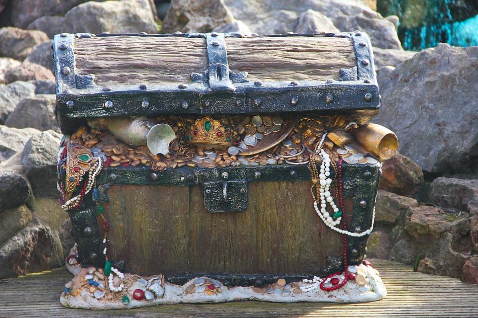Chest, Treasure, Pirate, Money, Box, Coins, Valuable