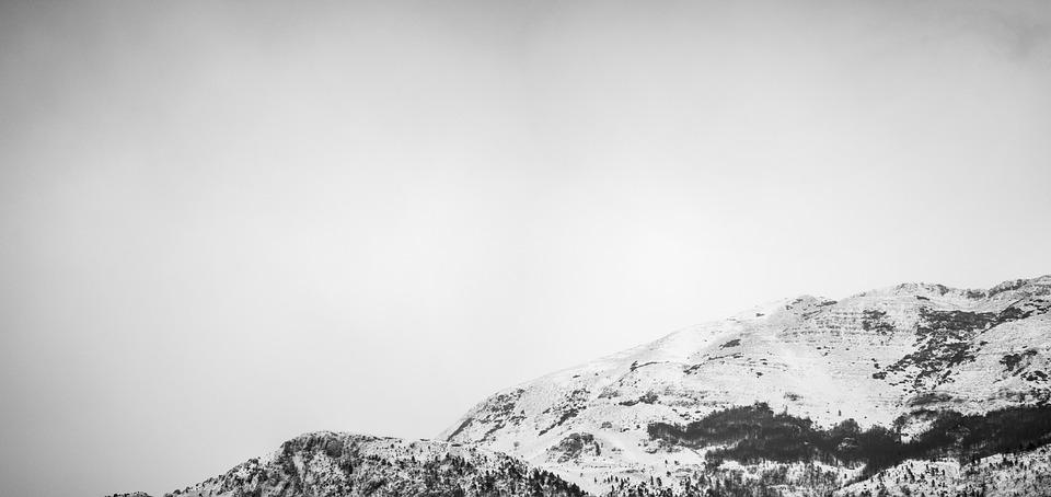 Mountain, Cold, Winter, B W, Snow, Nature, Peak, Alpine