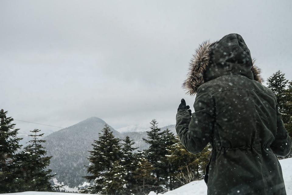 People, Back, Hoodie, Jacket, Cold, Weather, Snow