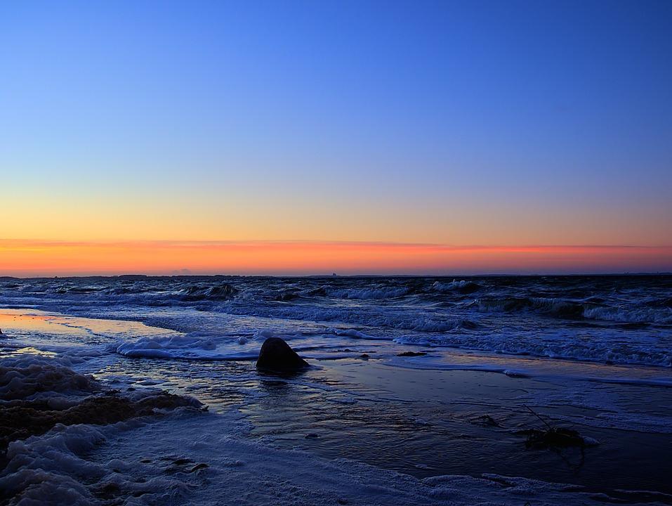 Baltic Sea, Sea, Beach, Coast, Water, Cold