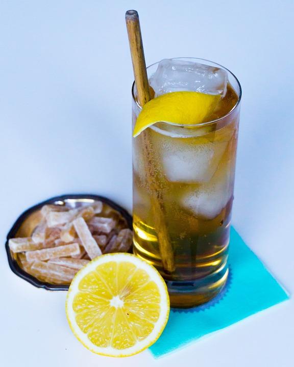 Glass, Drink, Lemon, Ice, Cold, Cocktail, Fruit, Citrus