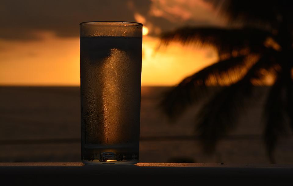 Soda, Drink, Cold, Sunset, Tropical, Beverage, Liquid