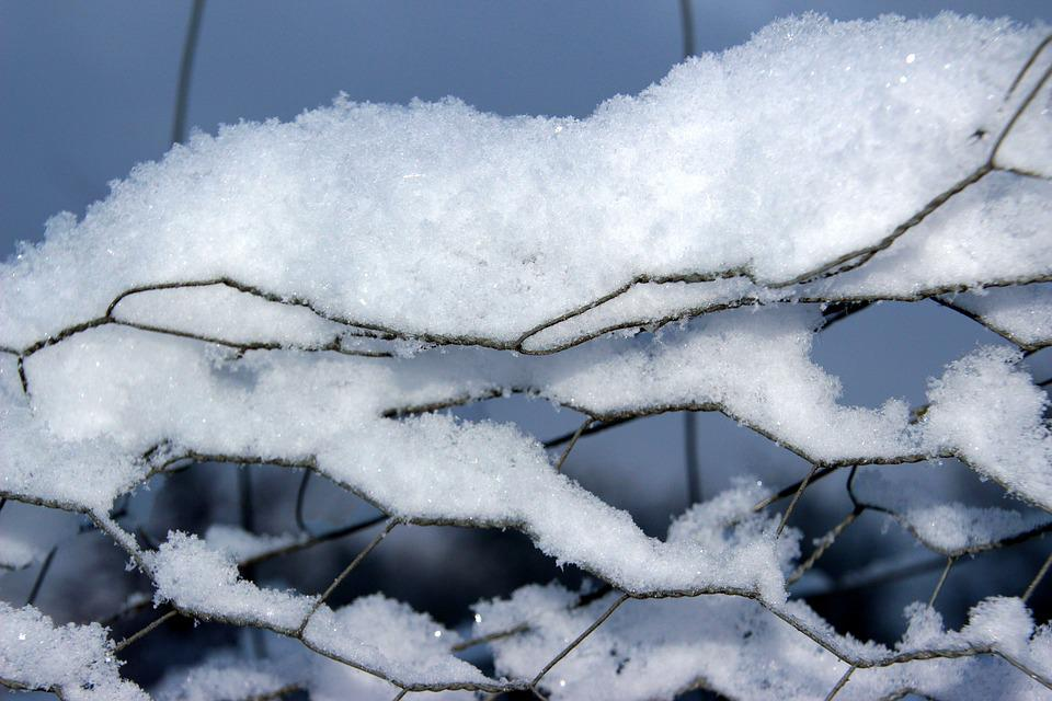 Snow, Snow Crystals, Winter, Cold, Frosty, Fence
