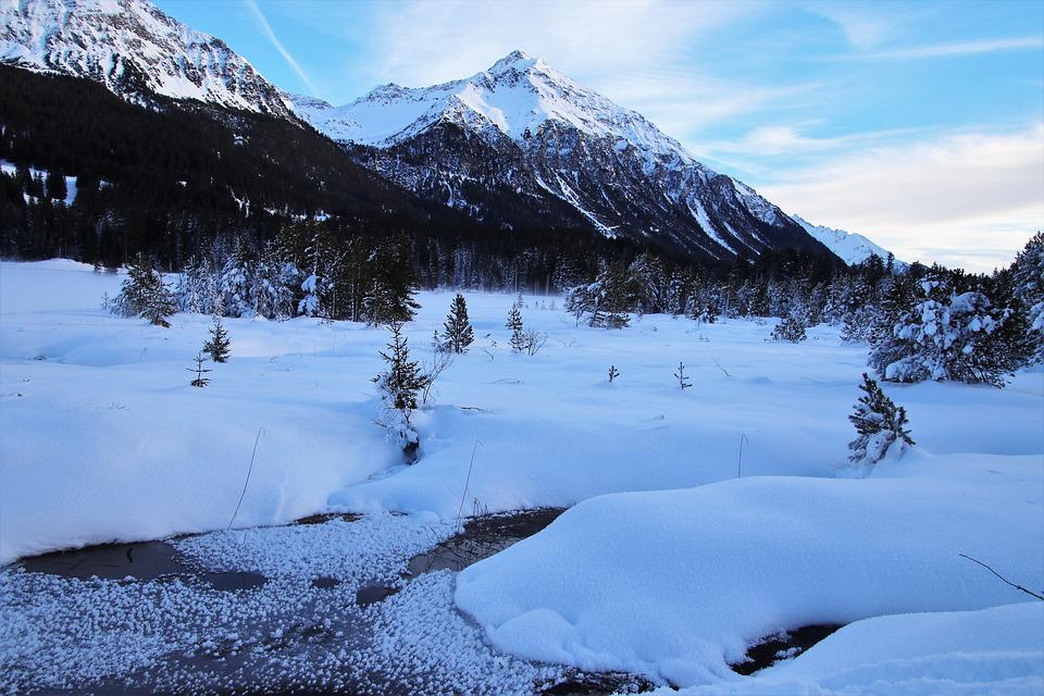 The Alps, View, Icy, Frost, Snow, Cold, Tops, Freeze